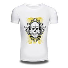 DY 204 Punk Style T Shirts Skull Cool Printed Hiphop Spring Summer Thin T Shirt Tops
