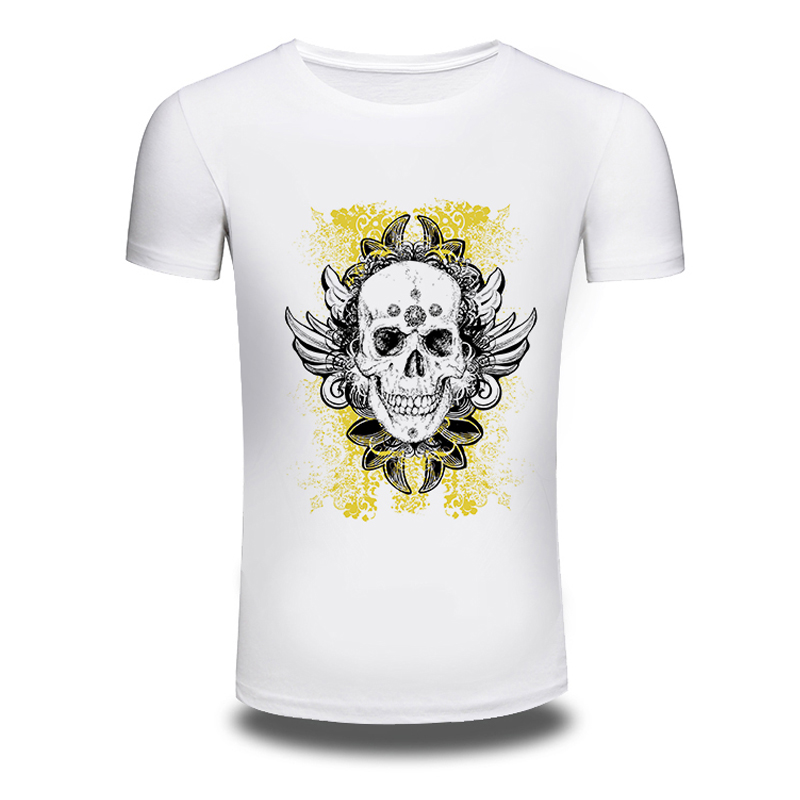 DY 204 Punk Style T font b Shirts b font Skull Cool Printed Hiphop Spring Summer