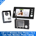 2.4Ghz wireless 7inch TFT LCD+3.5inch TFT LCD Video Door Phone 2.4Ghz wireless outdoor camera Intercom Doorbell system