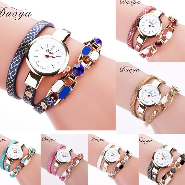 Ladies Bracelet Diamond Circle Watch Student Fashion Table analog quartz bracele