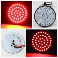 1 Pair 50 mm 2 Motorcycle Stop Brake Light 1157 Custom 12 Volt Automotive Tail LED turn signal inserts Light Softail