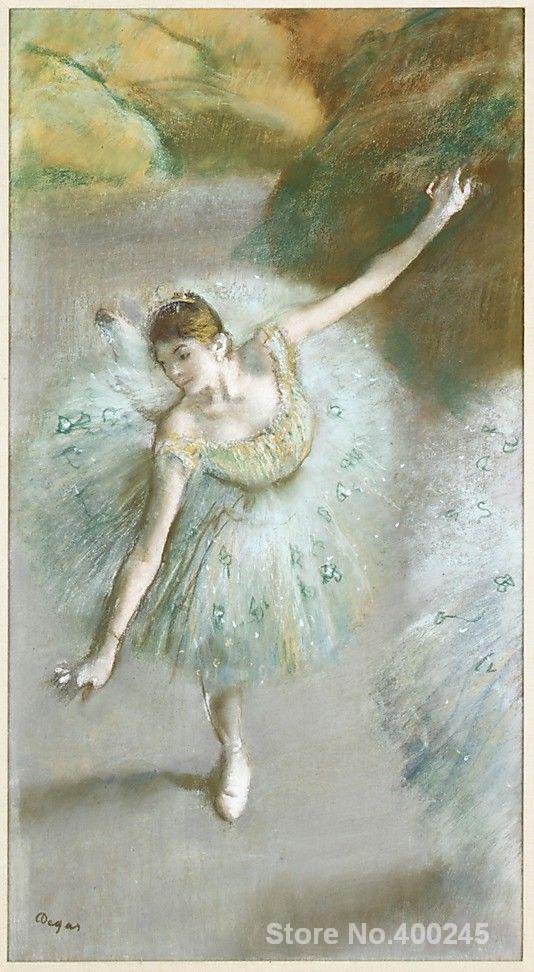 Portrait Paintings impressionist Dancer in Green. Edgar Degas High quality HandpaintedPortrait Paintings impressionist Dancer in Green. Edgar Degas High quality Handpainted