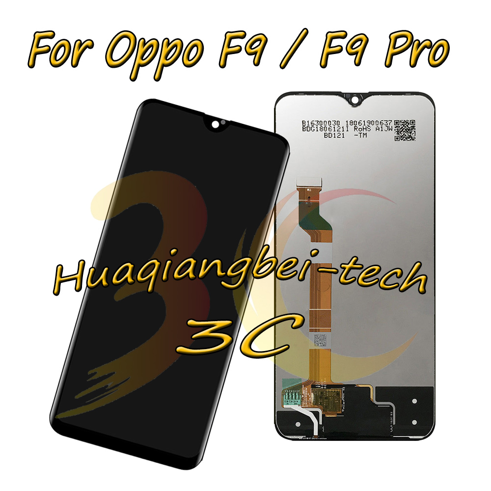 US $21.66 |New 6.3'' Black For Oppo F9 CPH1825 F9 Pro CPH1823 Full LCD DIsplay + Touch Screen Digitizer Assembly 100% Tested in Mobile Phone LCD