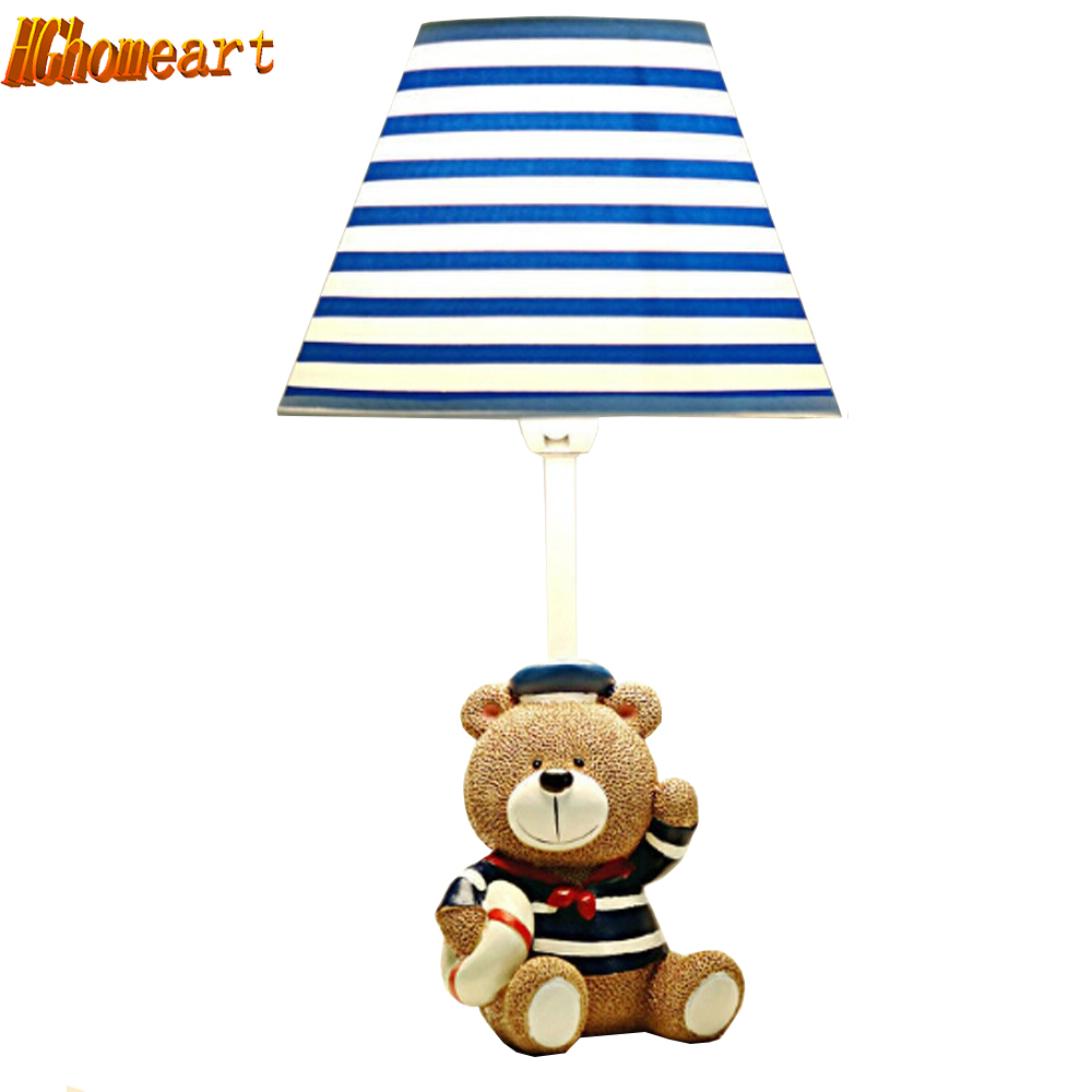 Hghomeart Children Room Captain Bear Modern Table Lamp Kids Wooden Desk Lamp E14 Reading Led Lamp Switch Button Study Lamps hghomeart children room captain bear modern table lamp kids wooden desk lamp e14 reading led lamp switch button study lamps