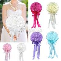 Venda quente Nupcial Do Casamento bouquet Espuma Artificial Rose Flor Rhinestone Nupcial Da Flor Do Casamento Decorações Do Partido