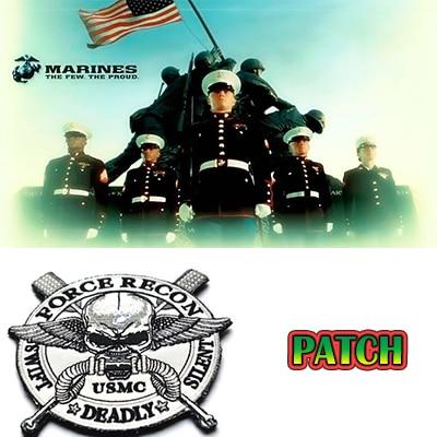 BZ0069# 11CM USMC Force Recon Swift Silent Deadly Velcro Patch USMC ...