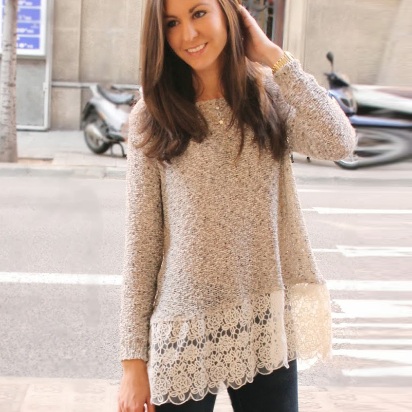 Popular White Lace Blouse Long Sleeve-Buy Cheap White Lace Blouse ...