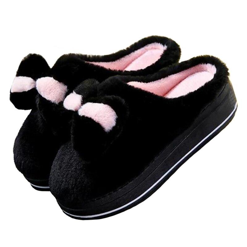 Mujer Caseros Libre Slip Wsl596 Aire On Negro rosado púrpura Calientes Mujeres al Slides Covoyyar Arco Plataforma Zapatos Invierno Fur Interior Cuñas Zapatillas wCZU4YxPq