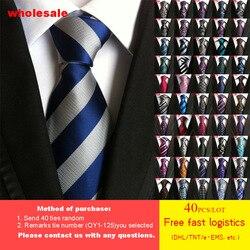 DHL/TNT kostenloser versand 40 stücke 125 Stile Krawatte Großhandel Neue Art Und Weise Mens Tie 100% Silk Hohe Dichte Paisley gestreiften Krawatten