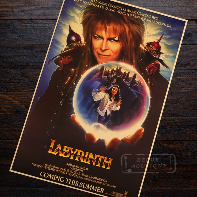 Labyrinth Sci-Fi Fantasy Movie Vintage Retro Decorative Frame Poster DIY Wall Canvas Painting Stickers Home Posters Home Decor