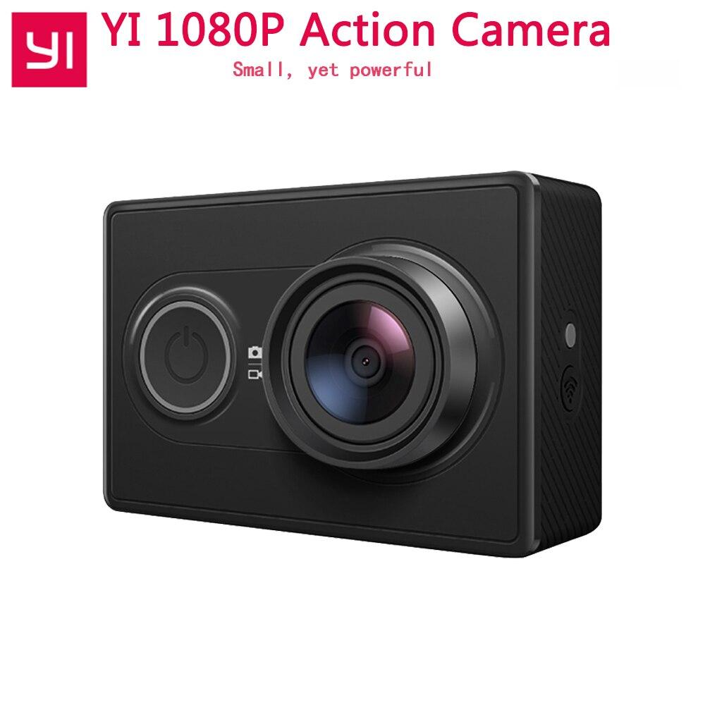 1080P Xiaomi YI Action Camera Sports Mini Camera 3D Noise Reduction WiFi BT4.0 16MP 60FPS Ambarella A7LS [International Edition]