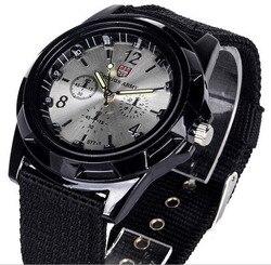 Marca de luxo moda pulseira militar relógio de quartzo dos homens esportes relógios de pulso relógio hora masculino relogio masculino 8o35