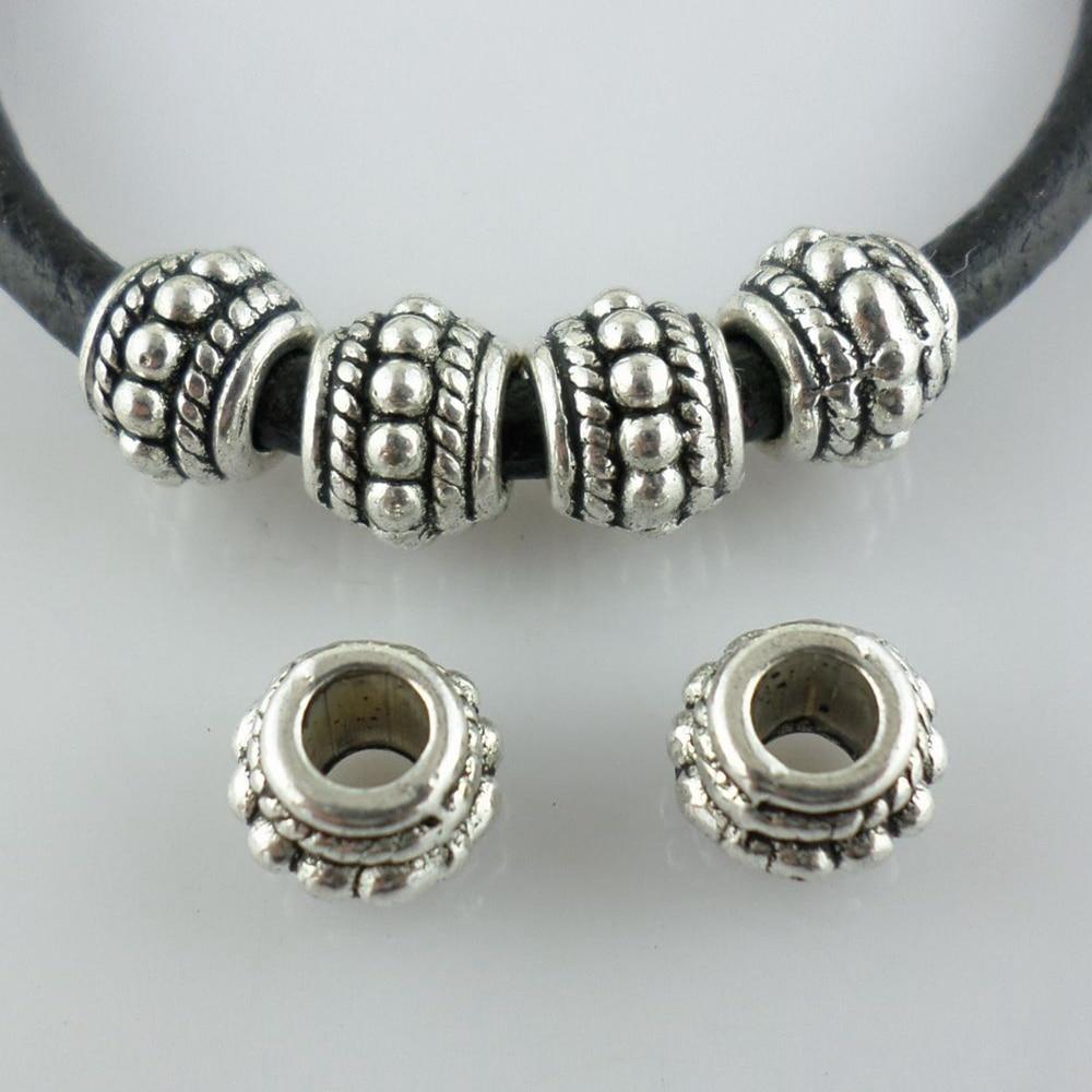 Tibetan Plain Coin Beads 3 x 6mm Red Copper 50 Pcs Art Hobby Jewellery Making