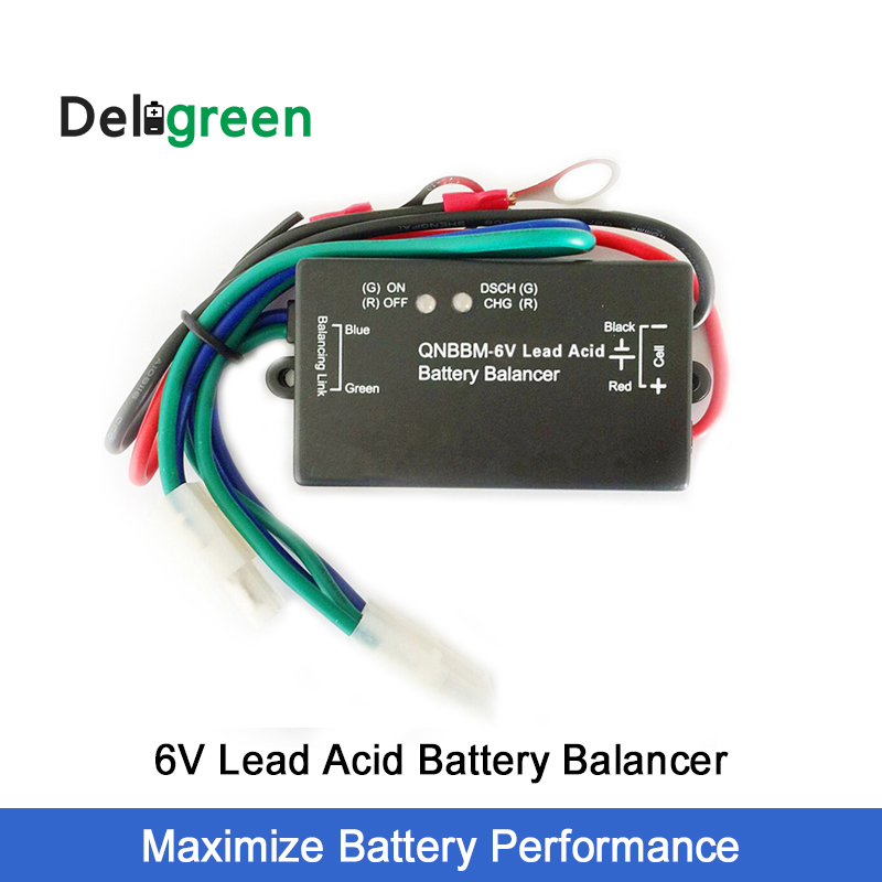 With Led QNBBM 6V Lead Acid Battery Equalizer Balancer BMS Flooded AGM GELL Battery Anti-vulcanization,Anti-corossion 1pcs