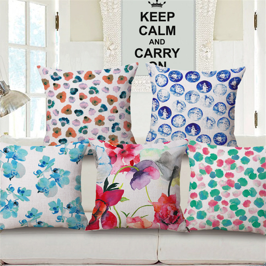 Nordic Geometric Plaid Flower Floral Decorative Throw Pillow Case Bed Car Sofa Chair Cushion Cober Home Decor Vintage Plain e966