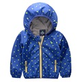 2016 boys jacket Polka Dot children hooded coat Outdoor jackets new Korean clothing kids zipper coats Casual clothes
