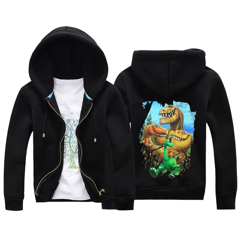 Jiuhehall Cartoon Dinosaur Berber Fleece Coats For Kids 2016 New Fashion Children Parkas 6 Colors Hooded Zipper Jackets JCM018 (4)
