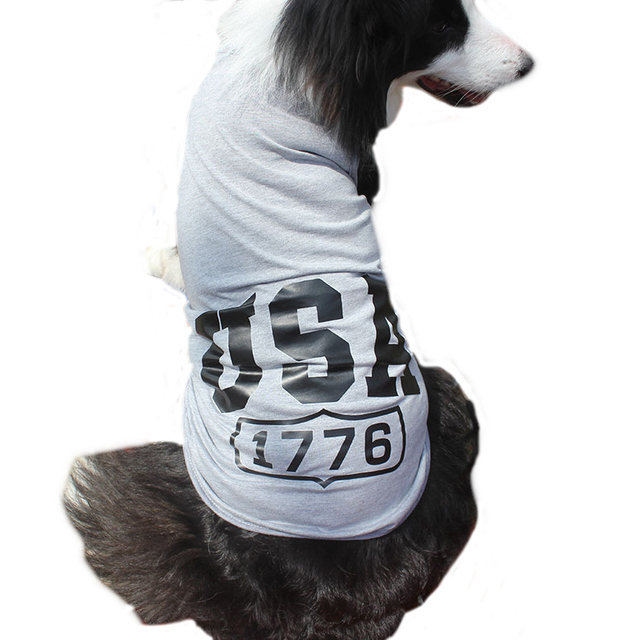 c8479a038f8 US $5.22 15% OFF|Plus Size 100% Cotton Spring Summer USA Letters Big Dog  Clothes Pet Dog Vest Tops Costume Pets Apparel Sportswear 3XL 9XL CW004-in  ...
