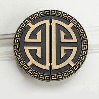 Китайские антикварные благоприятные ручки двери шкафа желтая бронзовая ручка для дверцы с нажатием или с поворотом зеленая бронзовая полу...