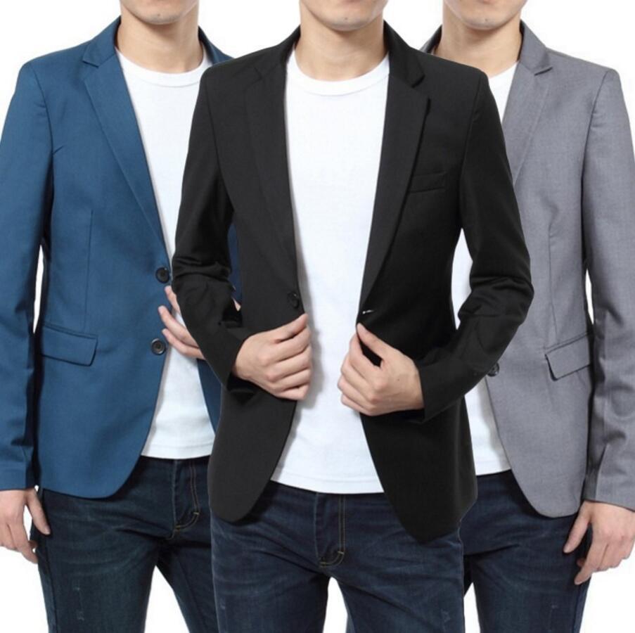 Men Slim Fit Business Blazer Jacket Men Suit Jackets Wedding Tuxedo high quality custom formal occasion men jacket