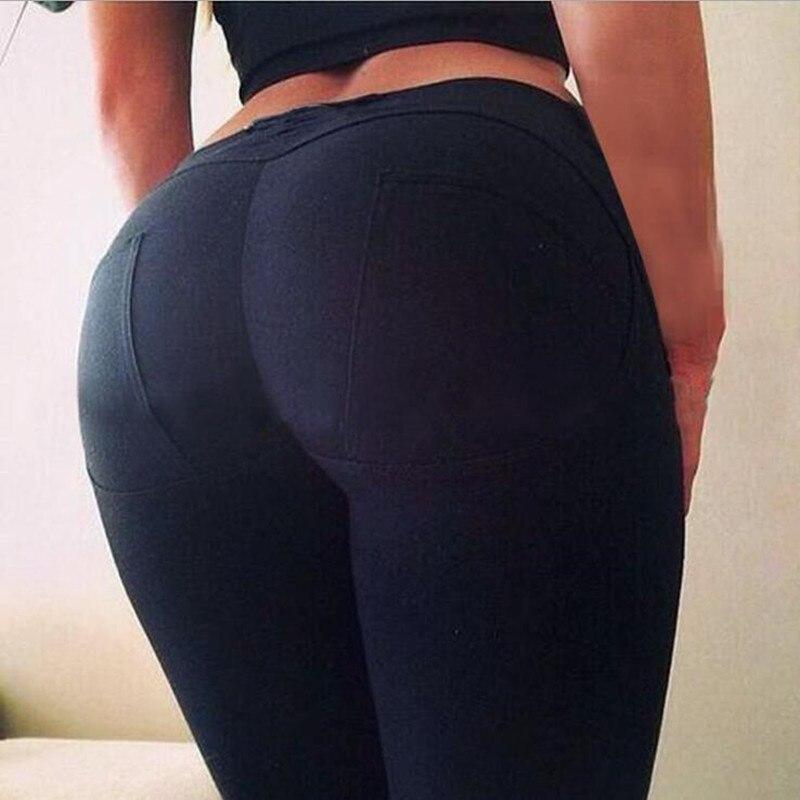 Leggings High Quality Low Waist Push Up Elastic Casual Leggings Fitness For Women Sexy Pants Bodybuilding Clothing Leggin