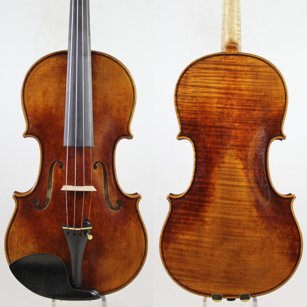 60-y old Spruce! Amazing 1 Pc Back! Antonio Stradivari Soil violino 4/4 violino Copia, All European Wood, Spedizione gratuita!
