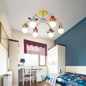 Image 2 - 현대 led 샹들리에 비품 오버 헤드 조명 홈 어린이 룸 아기 소년 소녀 침실 키즈 공주 샹들리에 램프