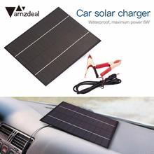 Bateria de Carro Água ao AR Amzdeal Novo Portátil Monocristalino 6 W 18 V Painel Solar À Prova D' Livre Viajar Powerbank Carregamento Carro Módulo