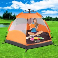 Six Corners 5 8 Person Automatic Tents Sunshade Summer Camping Garden Fishing Beach Picnic Rainproof Shelter Tents Ship from US