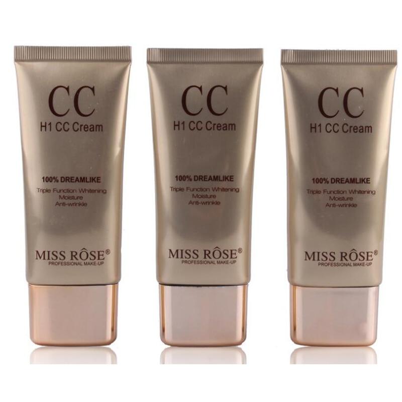 Miss Rose font b Makeup b font Liquid Foundation Shiny Colors Highlighter Corrector Cream Waterproof Long