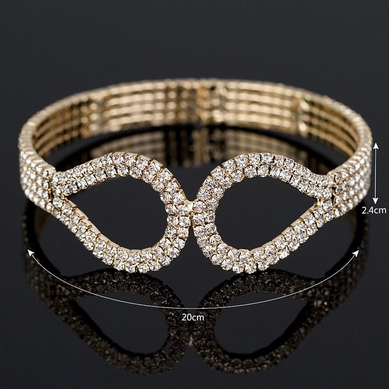 YFJEWE New Fashion Luxury rhinestone ձեռնաշղթա - Նորաձև զարդեր - Լուսանկար 5