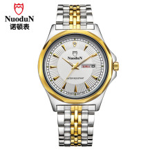 Mens Watches Top Brand Luxury Nuodun Gold Case Hot Sale Brand Watch Man Fashion Casual Steel Clock Wristwatch Relogio Masculino