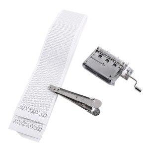Image 3 - 30 Note Mechanical ดนตรีกล่องเทป Hand Crank Music BOX การเคลื่อนไหว + Puncher 3 แถบ DIY เพลงที่สมบูรณ์แบบชุดของขวัญร้อน