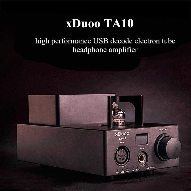 Original Newest XDUOO TA-10 High Performance Balanced Power Amplifier AK4490 XMOS USB DSD DAC 12AU7 Tube Headphone Amplifier original xduoo ta 20 high performance balanced tube headphone amplifier power amplifier