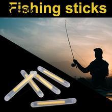 50Pcs 4.5*37mm Multi-Color Fishing Float Fluorescent Lightstick Light Night Float Rod Lights Dark Glow Stick for Fishing