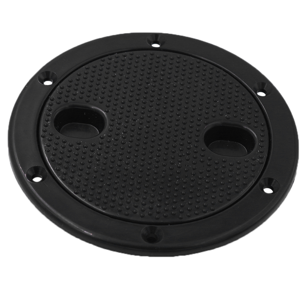 Black 4 Inch Access Hatch Round Inspection Cover Twist Screw Out Deck Plate for Boat RV Marine
