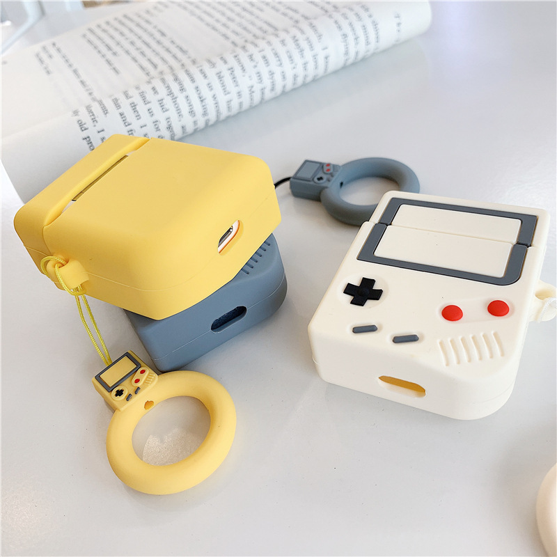 Image 5 - For AirPods Case Cute 3D Wireless Bluetooth Retro Game Machine Headphones For Apple Airpods 2 Silicone Earphone Protective Cover-in Earphone Accessories from Consumer Electronics