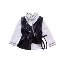 Здесь можно купить   New Arrival Spring Baby Girls Princess Jacket Kids Jacket Toddler Girl Costumes Leather Vest+T-Shirt 2PCS Girl Party Dress Coat Children