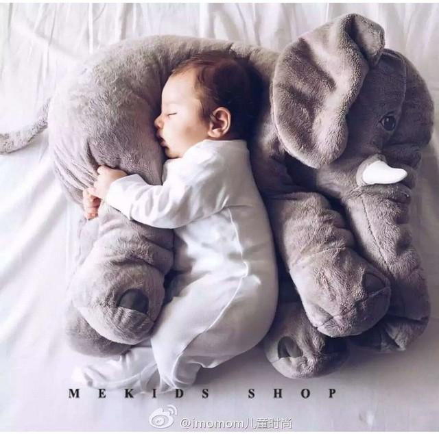 Elefante Macio Automotivo Travesseiro Sono Do Bebê Berço Dobrável Cama de Bebê brinquedos de Pelúcia Almofada Do Assento de Carro Do Bebê Crianças Conjunto de Cama Portátil