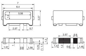 Image 3 - 100 개/몫 가장자리 SMD LED 7032 6V 1W 160mA TV 백라이트에 대 한 멋진 흰색 높은 전원