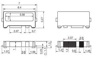 Image 3 - 100 unids/lote Edge SMD LED 7032 6V 1W 160mA blanco frío de alta potencia para retroiluminación de TV