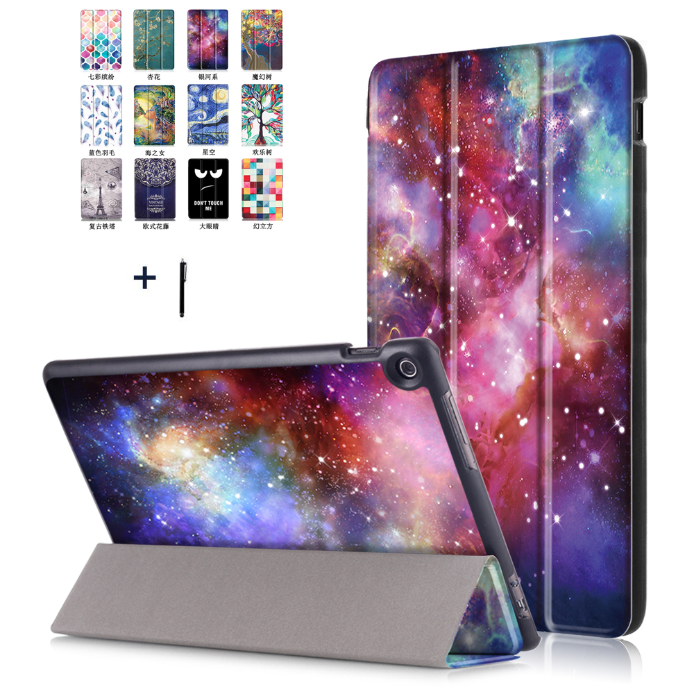 Case For Asus Zenpad 10 Z301MFL 10.1'' Ultra Thin Tablet Case Cover Z300CG Smart Print Flip Leather Stand Funda+Stylus asus zenpad 3s 10 z500m tablet pc