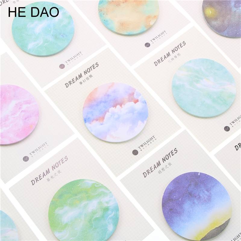 2018 New Arrival Hot Selling Natural Dream Series Self-adhesive Memo Pad Sticky Notes Post It Bookmark School Office Supply 2018 pet transparent sticky notes and memo pad self adhesiv memo pad colored post sticker papelaria office school supplies