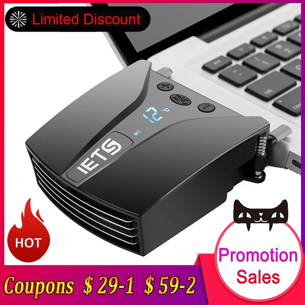 IETS 6 GT202 USB Ventilateur D'ordinateur Portable Cooler w/Affichage de La Température Portable Radiateur De Refroidissement Rapide Réglable Vitesse Auto-Temp détection