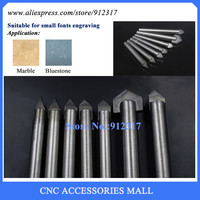 A series 7pcs/lot Alloy Router Bits CNC engraving cutter Stone carving tools