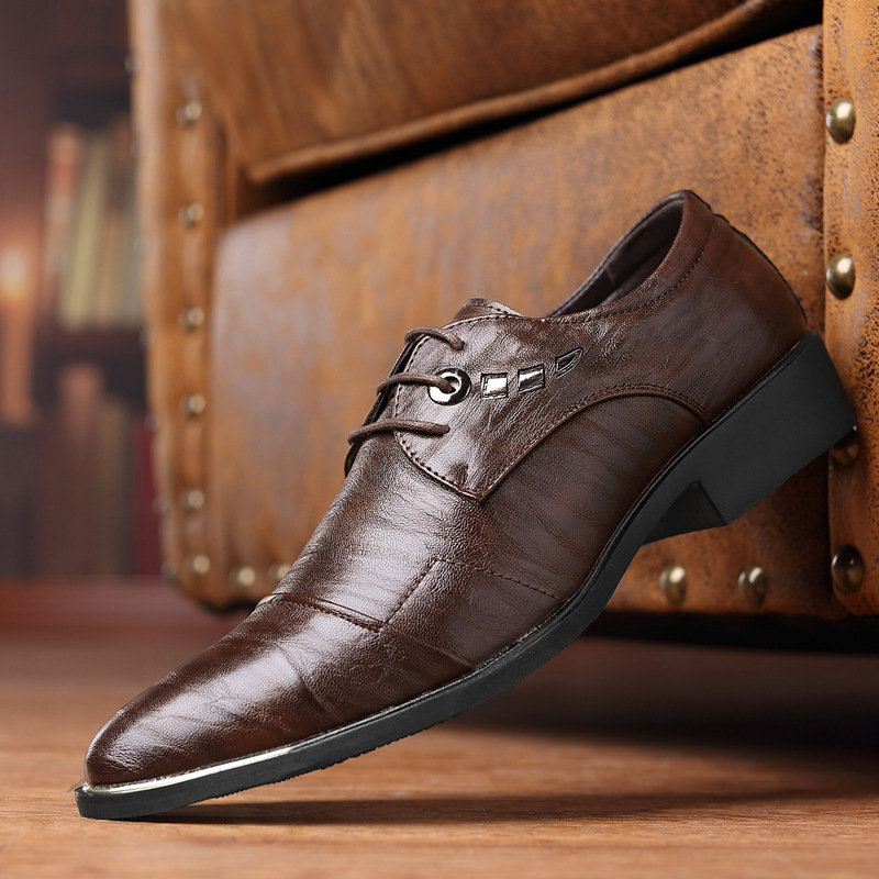Men's Shoes 2018 New Fashion Style Designer Formal Mens Dress Shoes Genuine Leather Luxury Wedding Shoes Men Flats Office Shoes Lc5008