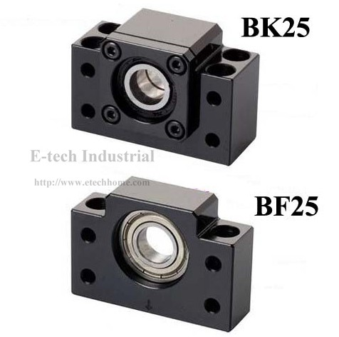 1 PC. BK25 + 1 pc. BF25 Ballscrew End Support BK25 BF25 Support Ball screw