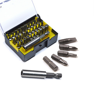 "Image 3 - Stanley 31 stks 1/4 ""drive hexgaon torx pozidriv platte etc. 25mm schroevendraaier bit kit met magnetische boren houder extension 60mm"