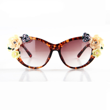Three-dimensional roses Baroque sunglasses women's lentes oculos gafas de sol feminino lunette soleil flowers glasses mujer