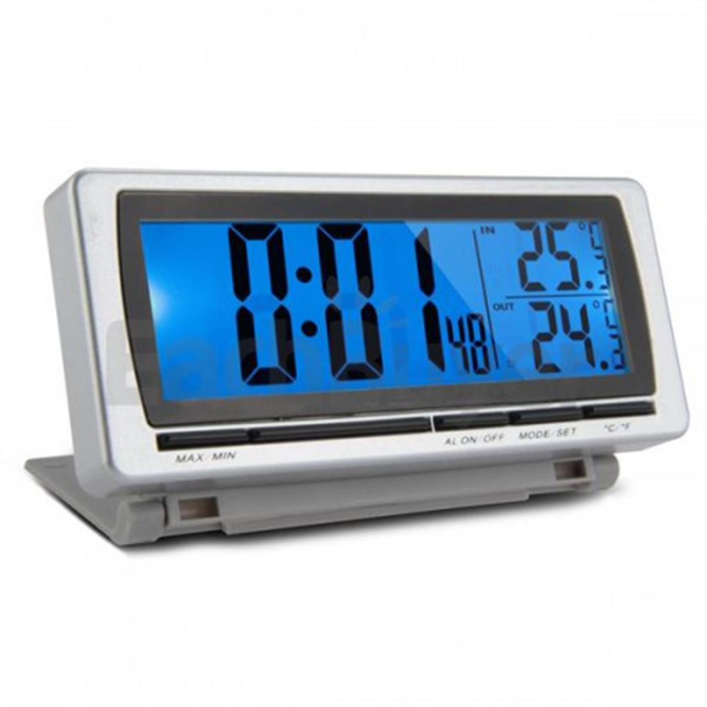 New Arrival Digital LCD Display LED Blue Backlight Car F/C Thermometer Clock Alarm Sensor